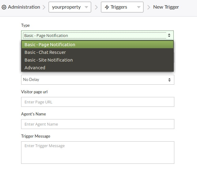 Creating and Managing Triggers   tawk to