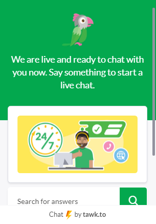 chat widget with linked image