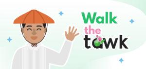 man wearing a barong and salakot introducing walk the tawk
